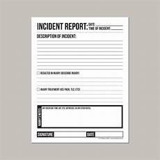 Incident Information Report Incident Report For Nanny Or Daycare Worker