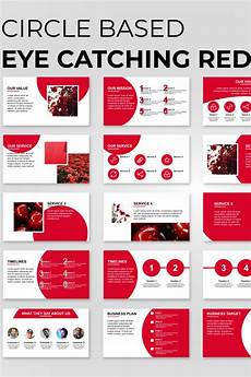 Red Powerpoint Circle Based Red Presentation Powerpoint Template 89834