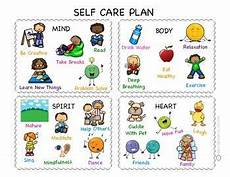 self care plan for younger children work self care