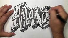 Cool Designs With Names Graffiti Speed Drawing Name Art Amanda Mat Youtube