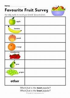 Food Tally Chart Favourite Fruit Survey Worksheet Sb7520 Sparklebox