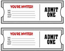 You Re Invited Templates Movie Ticket Party Invitations Template