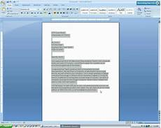 Letter Format Microsoft Word Microsoft Word 2007 Business Letter Tutorial Mp4 Youtube