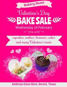 Bake Sale Name Ideas Copy Of Valentines Bake Sale Flyer Template Postermywall