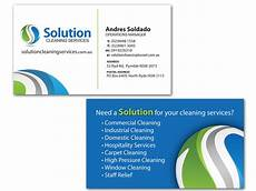 Business Cards For Cleaning Services Elegant Playful Industrial Business Card Design For A