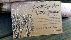 Wedding Save The Date Postcards Save The Date Postcards Winter Wedding Save The Dates Winter