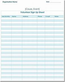 Volunteer Sign Up Sheet Signup Sheet Templates 40 Sheets 15 Types Word Amp Excel