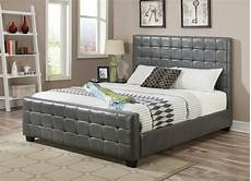 grey leather california king size bed a sofa