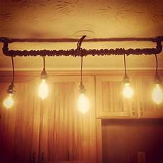 diy rustic home track lighting for kitchen made with