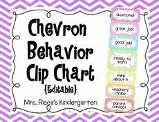 Chevron Behavior Clip Chart Chevron Behavior Clip Chart Editable By Mrs Ricca S
