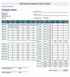 2 Week Time Card Calculator Download The Timesheet With 2 Breaks From Vertex42 Com