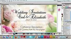 Free Programs To Make Invitations How To Make A Wedding Invitation Card Usng Photoshop Youtube