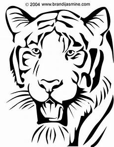 Animal Patterns To Trace Tiger Pumpkin Carving Pattern Brandi S Emporium