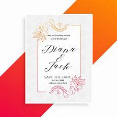 Download Invitation Card Template Lovely Floral Wedding Invitation Card Design Template