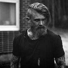 männer frisuren wikinger undercut with beard haircut for 40 manly hairstyles