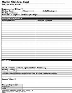 Template For Sign In Sheet Attendance Sign In Sheet Template 8 Free Printable Formats