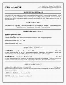 Phlebotomist Duties Resume Download 59 Resume For Phlebotomist Examples Free