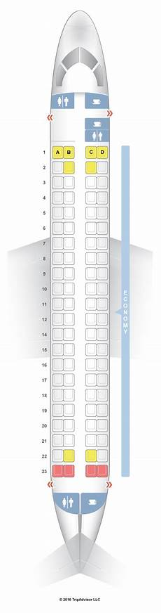 American Eagle Seating Chart Seatguru Seat Map Flybe Embraer 175 E75