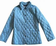 Light Blue Check Jacket Burberry Light Blue Classic Quilted Nova Check Jacket Size