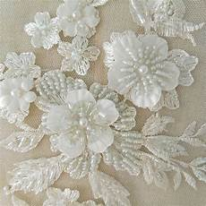 fabric crafts wedding designer wedding dress lace fabric 3d flowers pearl beaded