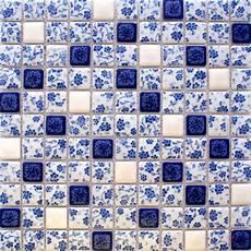 blue tile kitchen backsplash glazed porcelain tile backsplash adt33 blue and white