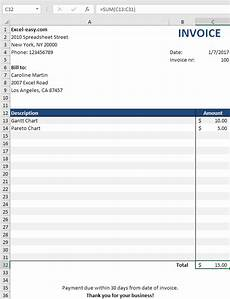How To Make Invoices In Excel Invoice Template In Excel Easy Excel Tutorial