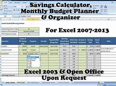 Budet Calculator Savings Calculator Monthly Budget Planner And Organizer For