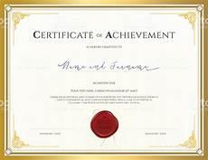 Certificates Of Achievement Free Templates Certificate Template For Achievement With Gold Border