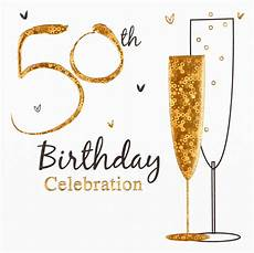 50th Birthday Party Invitation Template Multi Pack 36 Holographic 50th Birthday Party Card
