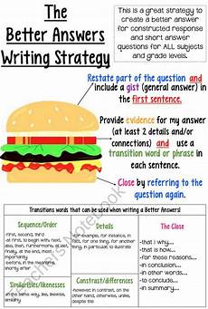 Writing Strategy The Better Answers Writing Strategy Keyrstan S Educ310