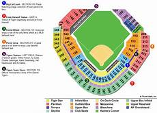 Detroit Tigers Seating Chart With Rows Seat Map Comerica Park Brokeasshome Com