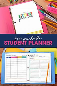 College Weekly Planners Free Printable Student Planner Elementary Junior High