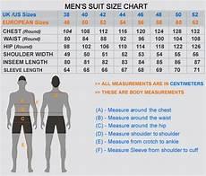 Squat Suit Size Chart Men S Suit Size Chart Fashion Pinterest