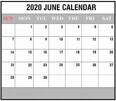 June 2020 Calendar With Holidays Free Blank June 2020 Printable Calendar With Holidays Pdf