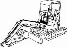 excavator mini excavator hitachi ex50u coloring page