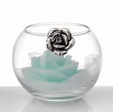 candela bomboniera matrimonio profumatore con rosa e candela bomboniera