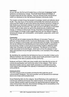 Health Promotion Essays File 5 Soph Uwc Health Promotion I Unit 4 Oerf 1