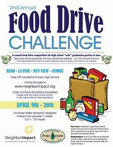 Can Food Drive Flyer 2nd Annual Food Drive Challenge City Of La Pine Oregon