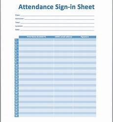 Template For Sign In Sheet Attendance This Attendance Sign In Sheet Template Is Created Using Ms