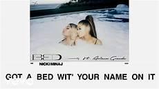 nicki minaj bed ft grande lyric