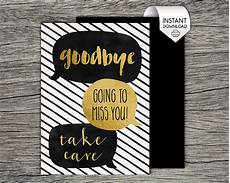 Free Printable Farewell Card For Colleague Printable Farewell Goodbye Card Goodbye Going To Miss