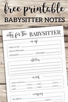 Babysitter Notes Template Free Printable Babysitter Notes Template Babysitter