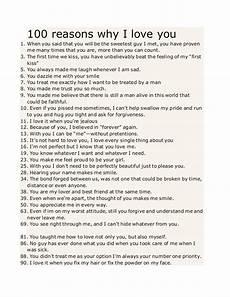 Reasons Why I Love You 100 Reasons Why I Love You