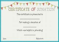 Charity Gift Certificates Donation In Honor Of Certificate Template Donation
