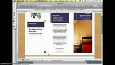 Make A Brochure On Word Creating A Brochure In Word Youtube