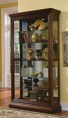 pulaski curio cabinet 21015 two way sldg door curio 21015