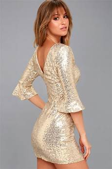 Light Gold Sequin Dress Gold Dress Sequin Dress Bodycon Dress