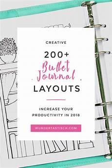 Journal Templates 200 Bullet Journal Layouts 2018 Wundertastisch