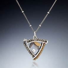 Kinzig Design Jewelry Mixed Metal Triangle Necklace 210 By Susan Kinzig Of
