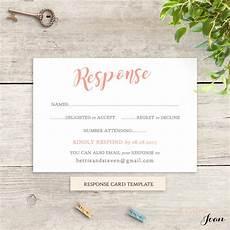 Rsvp Template Coral Wedding Rsvp Card Template Printable Response Card